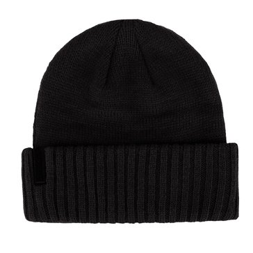 Calvin Klein Jersey Knit Rolled Cap - Charcoal