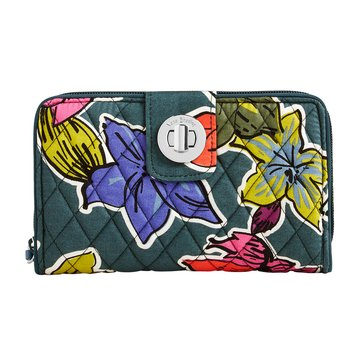 Vera Bradley Turnlock Wallet Falling Followers