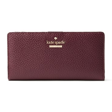 Web Exclusive! Kate Spade Jackson Street Stacy Wallet Plum