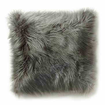 Thro Grey Faux Fur 20 x 20 Pillow