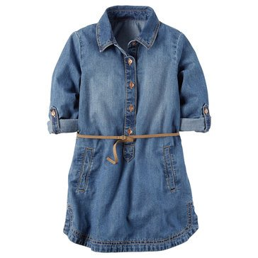 Carter's Little Girls' Denim Shirtdress