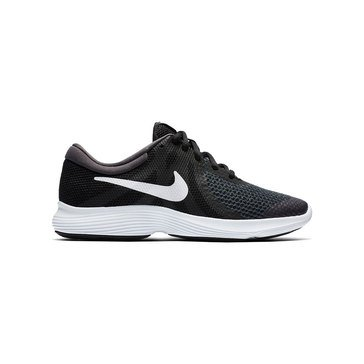 Nike Revolution 4  Boys Running Shoe Black/ White