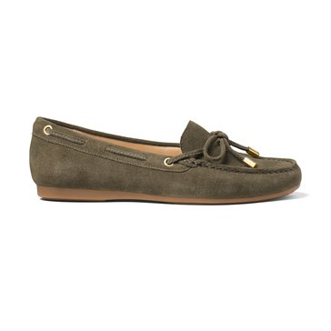 Michael Kors Sutton Moc Women's Suede Slip On Shoe Olive