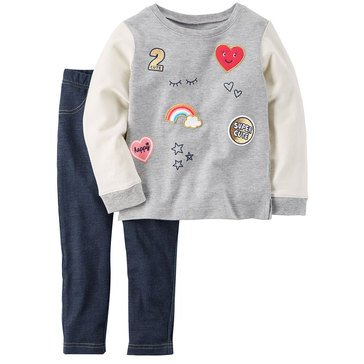 Carter's Little Girls' 2-Piece Legging Set