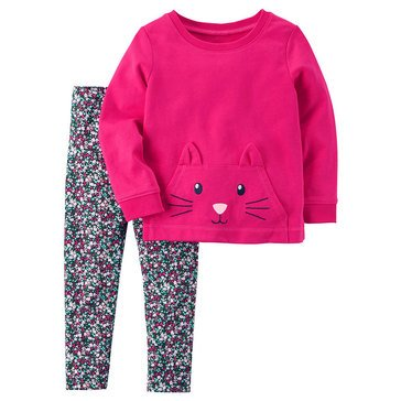 Carter's Little Girls' 2-Piece Legging Set, Pink