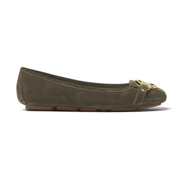 Michael Kors Fulton Moc Women's Suede Slip On Shoe Olive
