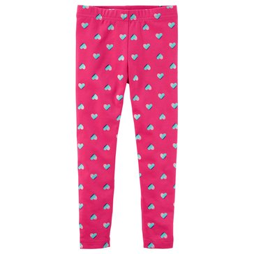 Carter's Little Girls' Foil Heart Leggings