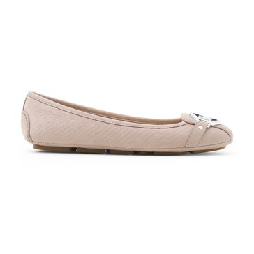 Michael Kors Fulton Moc Women's Slip On Shoe Snake Nubuk Mink