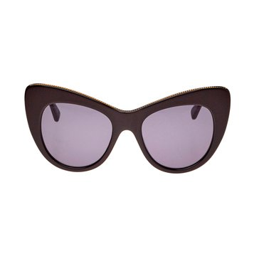 Stella McCartney Women's Sunglasses SC0006S, Black/ Grey 53mm