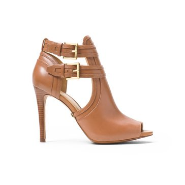 Michael Kors Blaze Open Toe Bootie Women's Dress Shoe Acorn