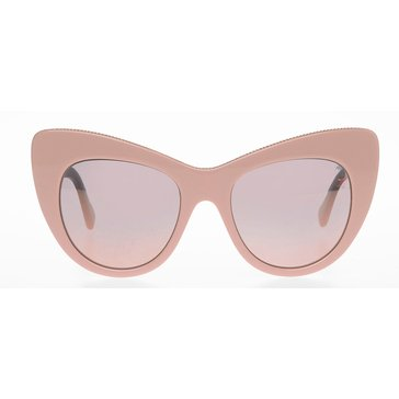 Stella McCartney Women's Polarized Sunglasses SC0006S, Pink/ Pink Mirror 53mm