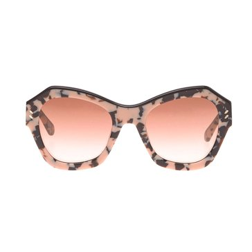 Stella McCartney Women's Sunglasses SC0022S, Rose Havana/ Brown Gradient 52mm