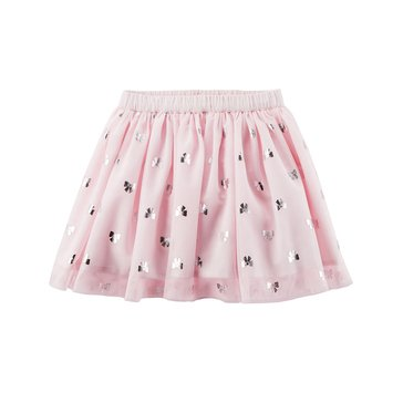 Carter's Little Girls' Foil Star Print Tulle Skirt, Light Pink