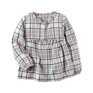 Carter's Little Girls' Plaid Flannel Top