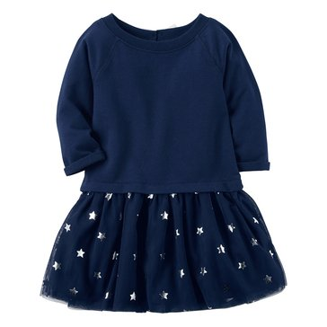 Carter's Little Girls' Tulle Dress, Navy