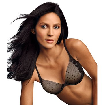 Maidenform Natural Boost Demi Bra Black/Body Beige