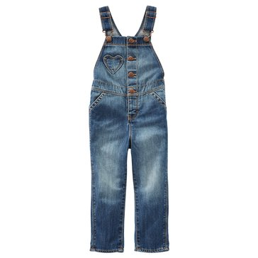 OshKosh Baby Girls' Heart Pocket Denim Overalls