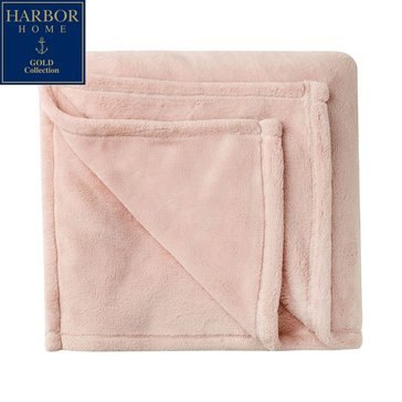 Harbor Home Gold Collection Primalush Throw, Rose Smoke