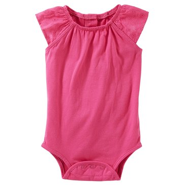 OshKosh Baby Girls' Eyelet Sleeve Bodysuit