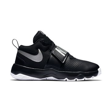 Nike Team Hustle D 8  Boys Basketball Shoe Black/ Metallic Grey