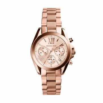 Michael Kors Women's Mini Bradshaw Watch MK5799, Rose Gold 36mm