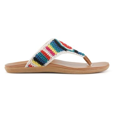 Sakroots Sarria Women's Crochet Thong Sandal Palm Springs Multi