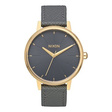 Nixon Women's Kensington Watch, Charcoal Leather 37mm