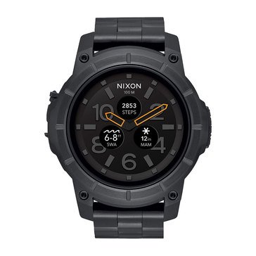 Nixon Men's Mission Black with Black Bracelet Smartwatch, 48mm