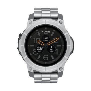 Nixon Men's Mission Stainless Steel Bracelet Smartwatch, 48mm