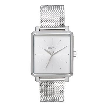 Nixon Women's Squared Milanese Stainless Steel Watch, 32mm