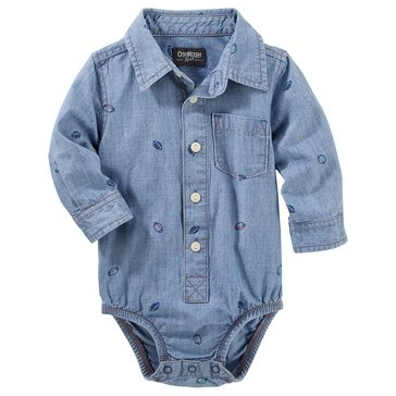 OshKosh Baby Boys' Long-Sleeve Bodysuit
