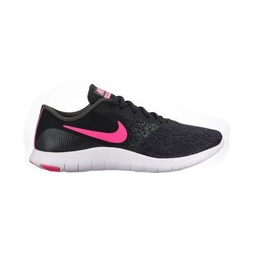 Nike Flex Contact Women's Running Shoe - Black / HyperPink / Anthracite / White