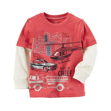 Carter's Baby Boys' Long-Sleeve Tee, Firetuck