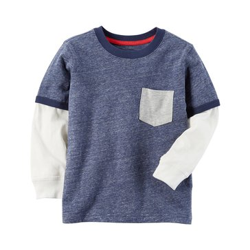 Carter's Baby Boys' Long-Sleeve Pocket Tee