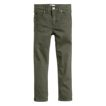 Epic Threads Little Boys' Twill Pants, Dark Sprout