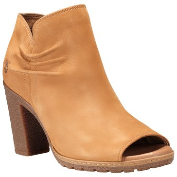 Timberland Glancy Women's Rouched Peep Toe Shoe Wheat