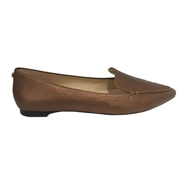 Karl Lagerfeld Destine Women's Pointed Flat Shoe Bronze
