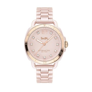 Coach Women's Tatum Watch 14502754, Light Pink Ceramic 34mm
