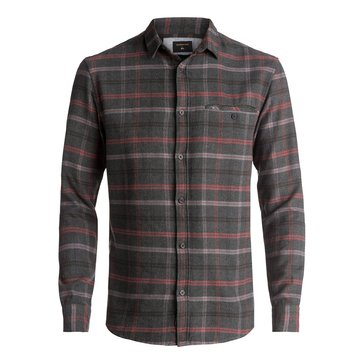 Quiksilver Men's Sunda Ray Apple Butter Long Sleeve Flannel Shirt