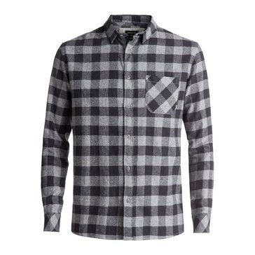 Quiksilver Men's Motherfly Tarmac Long Sleeve Flannel Shirt
