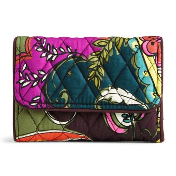 Vera Bradley Riley Compact Wallet Autumn Leaves