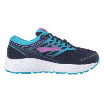 Brooks Addiction 13 Women's Running Shoe - Evening Blue / Teal Victory / Purple Cactus Flower