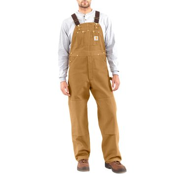 Carhartt Men's Duck Bib Overalls - Brown / Long