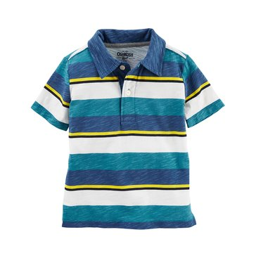 Oshkosh Little Boys' Jersey Polo, Stripe