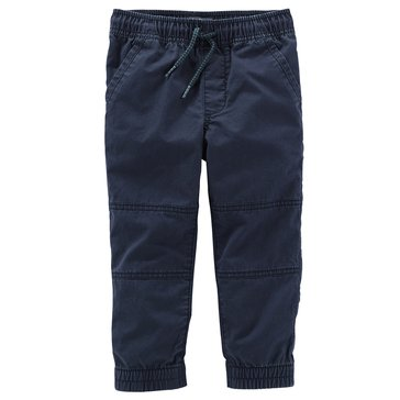 Oshkosh Little Boys' Jogger Rib Hem Pants, Blue