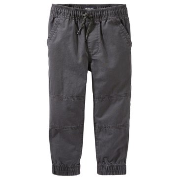 Oshkosh Little Boys' Jogger Rib Hem Pants, Black