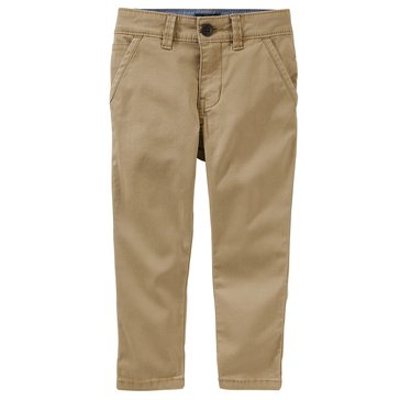 Oshkosh Little Boys' Slouch Straight Chino Pants, Brown