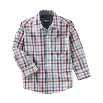 Oshkosh Toddler Boys' Woven Shirt, Plaid