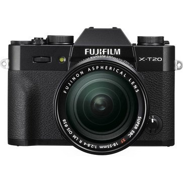 Fuji XT20 Mirrioless Digital Camera with 18-55mm Lens - Black (16542751)