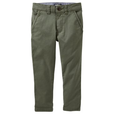 Oshkosh Toddler Boys' Slouch Straight Chino Pants, Green